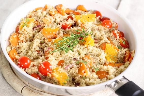 Quinoa a la naranja