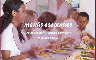 Menús escolares. Requisitos nutricionales, estructura y composición.