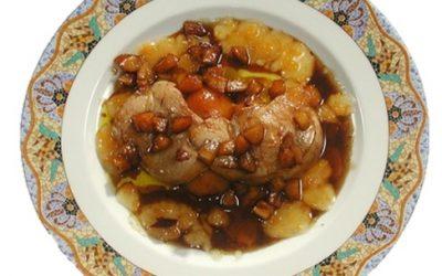 Hígado de pato a la sartén al vino de oporto con mermelada de níspero