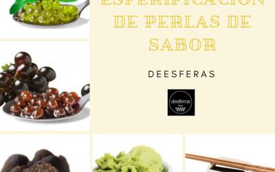 Desferas: Esferificaciones de perlas de sabores