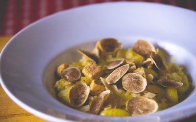 Ñoquis con salsa de foie y trufa
