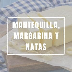 Mantequilla, margarina y nata.